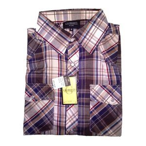 Gioberti Men's Long Sleeve Plaid Flannel Shirt NWT